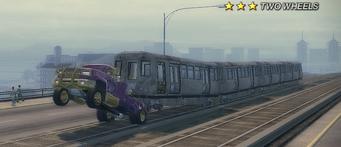 Shaft - towing El Train on Two Wheels
