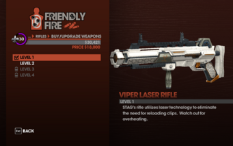 Viper Laser Rifle - Level 1 description