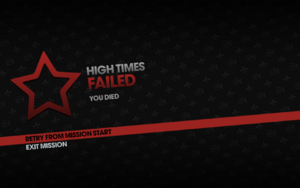 High Times fail screen