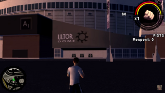 Ultor Dome exterior in Saints Row Undercover