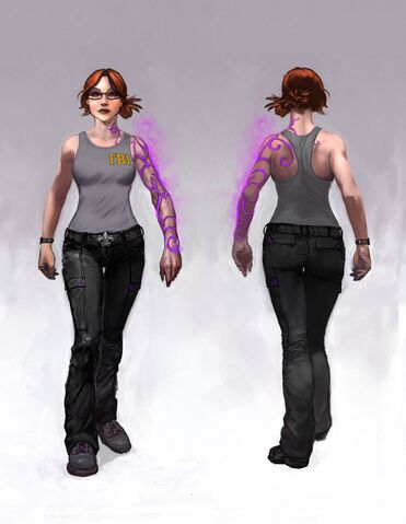File:Kinzie Kensington Gat out of Hell Concept Art - front and back.jpg
