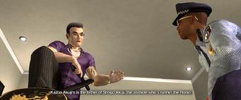 Kazuo Akuji's is the father of Shogo Akuji, the asshole who's runnin' the Ronin