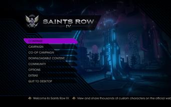 Saints Row IV Main Menu