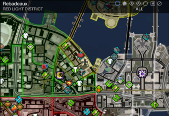 Map in Saints Row 2 - Red Light - Rebadeaux