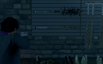 Baseball Bat on the wall of Friendly Fire in Saints Row The Third