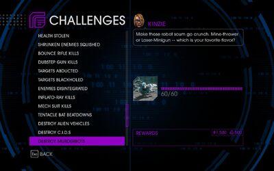 Challenge 55 Destroy Murderbots