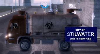 City Waste Truck - left