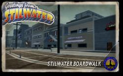 Postcard hood stilwater boardwalk