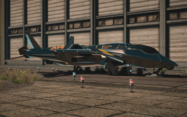 File:F-69 VTOL - test variant - front left parked in Saints Row IV.png