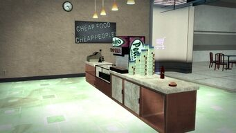 Charred Hard Burgers in Wardill Airport - interior