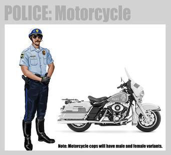 Saints Row 2 Motorcycle Cops Concept Art