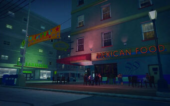 Southern Cross in Saints Row 2 - Mexican food