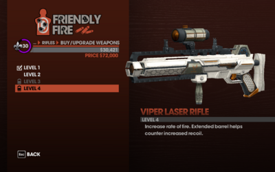Viper Laser Rifle - Level 4 description