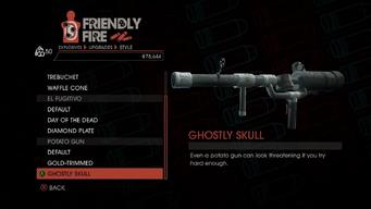 Weapon - Explosives - RPG - Potato Gun - Ghostly Skull