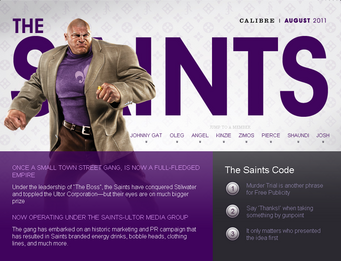 Saints Row website - Gangs - The Saints - intro