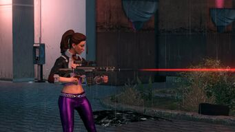 Shaundi and AR-55 with laser