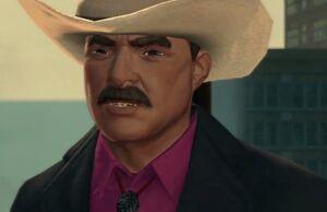 Burt Reynolds closeup on Zombie Attack in Saints Row The Third