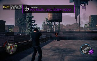 Death Tag kill message in Saints Row IV