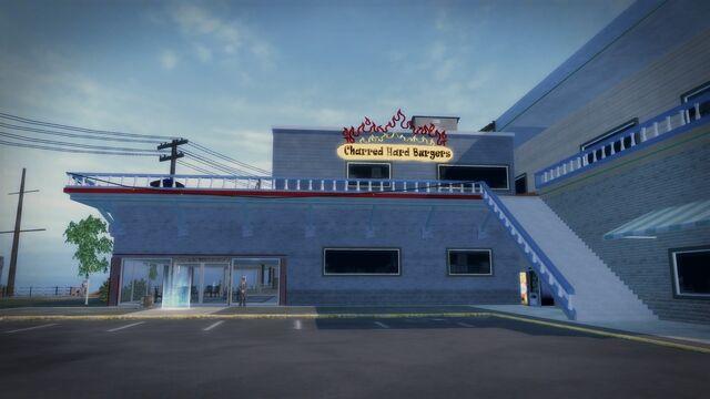 File:Charred Hard Burgers in Stilwater Boardwalk - west side.jpg