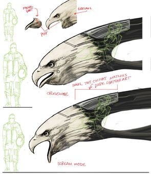 Screaming Eagle - Concept Art detailed head