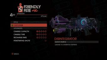 Weapon - Rifles - Disintegrator - Upgrades