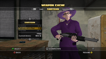 Saints Row Weapon Cache - Shotgun - Platinum AS12 Riot