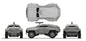 EDF Scout - four view plan concept art