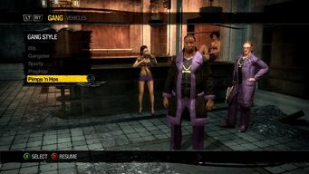 Gang Customization in Saints Row 2 - Pimps and Hos