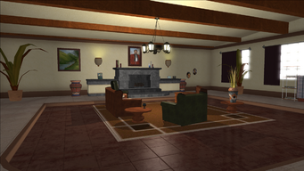 Lopez Mansion in Saints Row - Livingroom