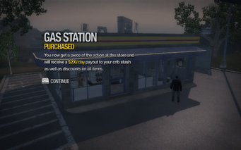Gas Station in Centennial Beach purchased in Saints Row 2