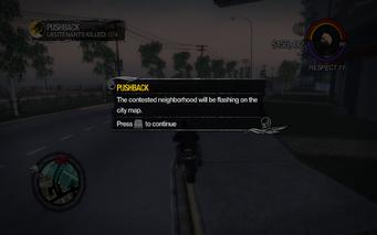 Pushback tutorial in Saints Row 2 - flashing map