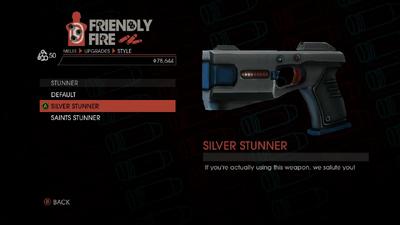 Weapon - Melee - Stun Gun - Stunner - Silver Stunner
