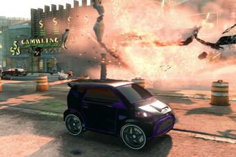 Emu - front right with custom Black and Purple paint in Saints Row The Third