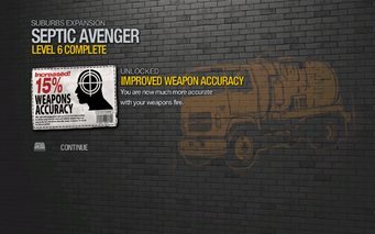 Improved Weapon Accuracy 15% unlocked by Septic Avenger level 6 in Saints Row 2