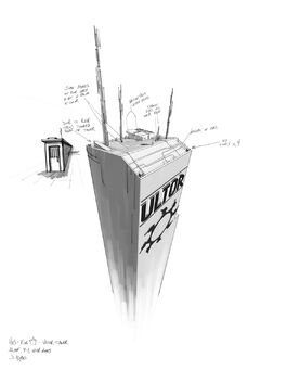 Ultor Building - Concept Art sketch