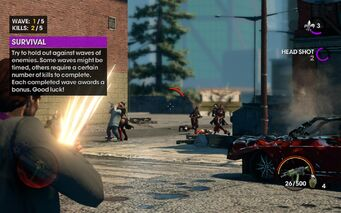 Survival tutorial in Saints Row The Third