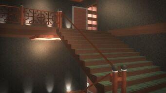 Tohoku Towers - top floor stairs