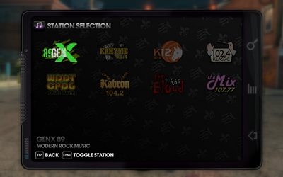 Saints Row The Third radio stations main