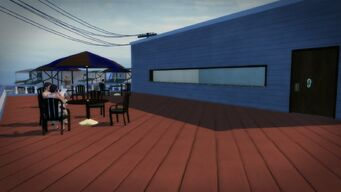 Charred Hard Burgers in Stilwater Boardwalk - exterior roof dining area
