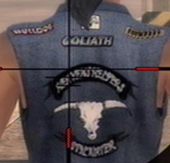 Goliath logo on biker jacket in Saints Row 2