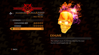 Skull - Exhume description