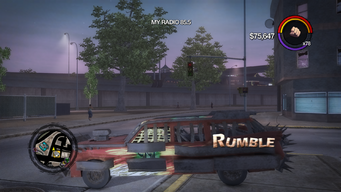 Rumble - left with logo