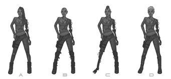 Future Shaundi Concept Art - 4 versions