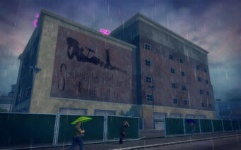 Truck Yard in Saints Row 2 - Seabaugh's Real Looking Robot Doll co