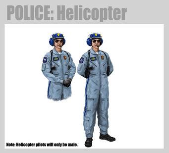 Saints Row 2 Police Chopper Pilot Concept Art