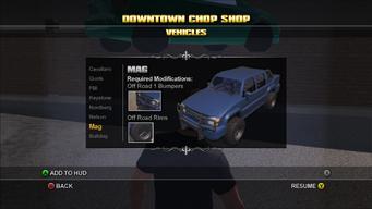 Saints Row Chop Shop - Downtown - Mag