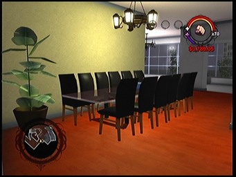 The dining area in Anthony's condo in Saints Row
