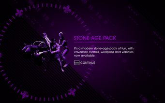 Saints Row IV Stone Age Pack unlock screen