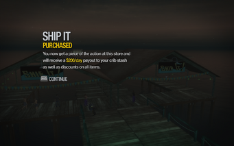 Ship It in Stilwater Boardwalk purchased in Saints Row 2