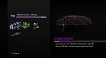 Cyber Buster in the Weapon Cache